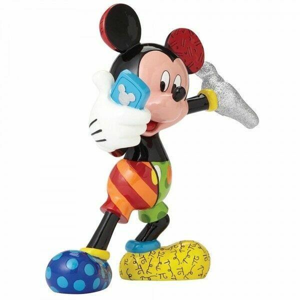 "Disney Romero Britto "" Mickey Mouse Fait Selfie Figurine - 20621O"