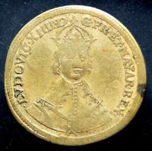 JETON-LOUIS-XIV-Buste-jeune-Nuremberg-Conradt-Laufer-Royal-Token