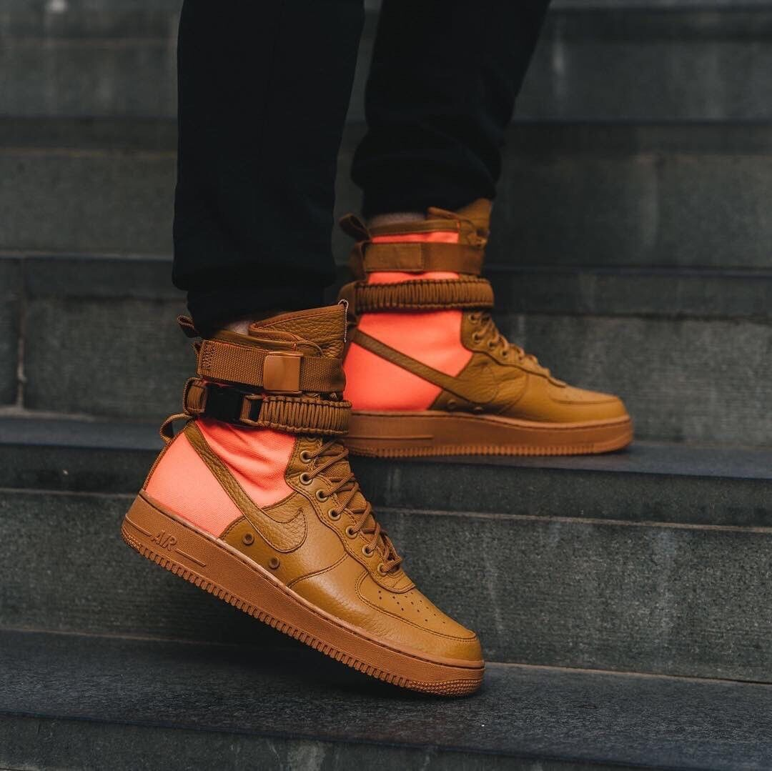 Nike SF AF1 QS Special Field Air Obliger 1 Desert Ochre Uk