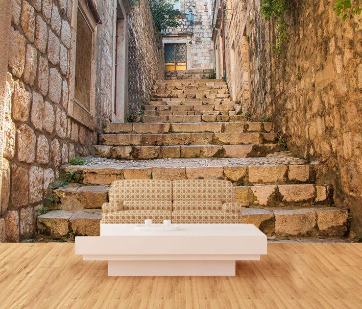 3D Alley Stairs 1058 WallPaper Murals Wall Print Decal Wall Deco AJ WALLPAPER