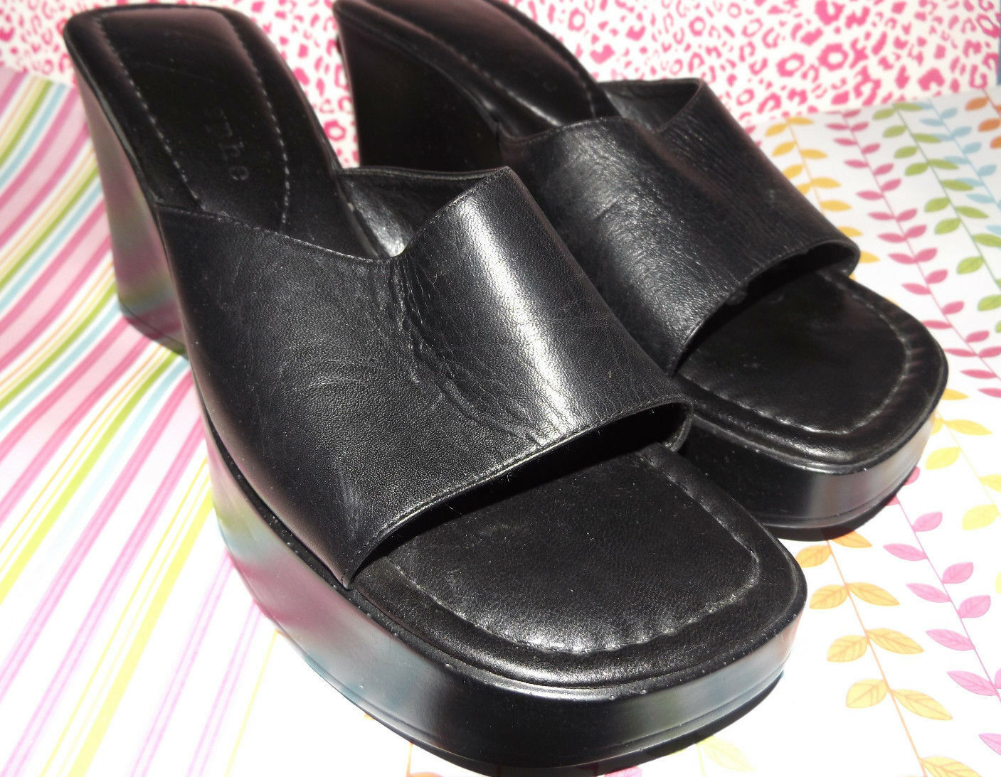 APOSTROPHE  Ladies Black 8M Shoes  / Size 8M Black 1e4728
