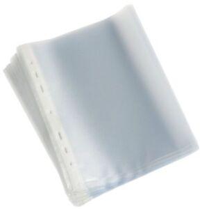 100 DIN A5 Prospekthüllen Klarsichthüllen oben offen aus PP