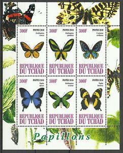 Tchad-Chad-Papillons-Butterflies-Schmetterlinge-2010-Bloc-Faciale-1800-Francs