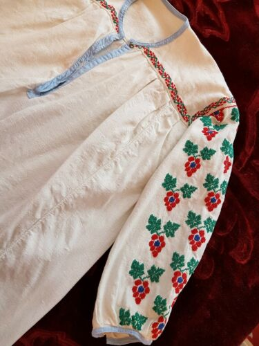 Vintage Hand Vintage Embroidered Romanian Embroidered Hand Blouse Romanian wz1qxBEZ