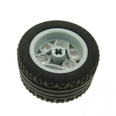 1x Lego Technic Wheel Black Old Light Grey 43.2x22 ZR 4184286 4211809 44292c02