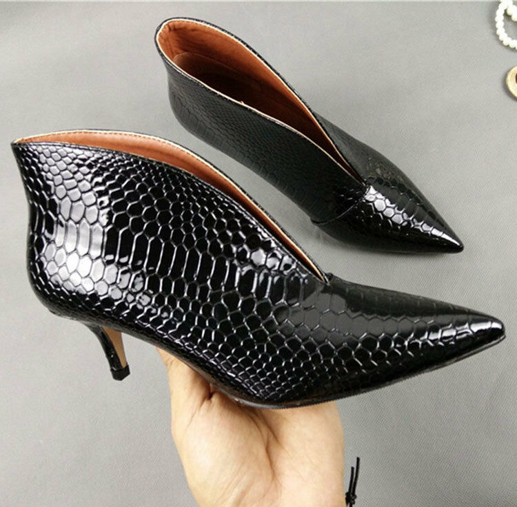 Women Pointed Toe Slim High Heels Slip On shoes Oxfords Oxfords Oxfords Solid Ankle Boots Party 7f6af4