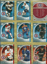 2010-11 UD NATIONAL HOCKEY CARD DAY -  SET OF16 HOCKEY CARDS WITH SUBBAN  HALL