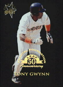 1998-Leaf-Fractal-Foundations-166-Tony-Gwynn-GLS-3999-NM-MT