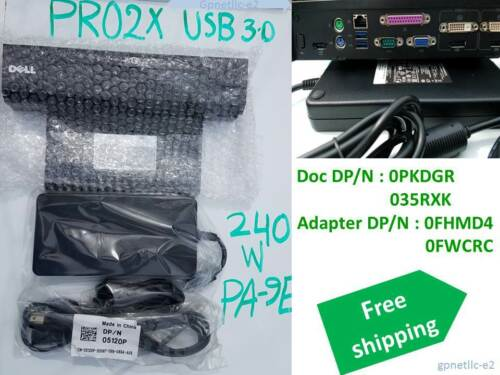DP//N 0M8V41 Dell E-Port Plus II USB 3.0 PR02X with PA-9E 240 W Adapter No BOX