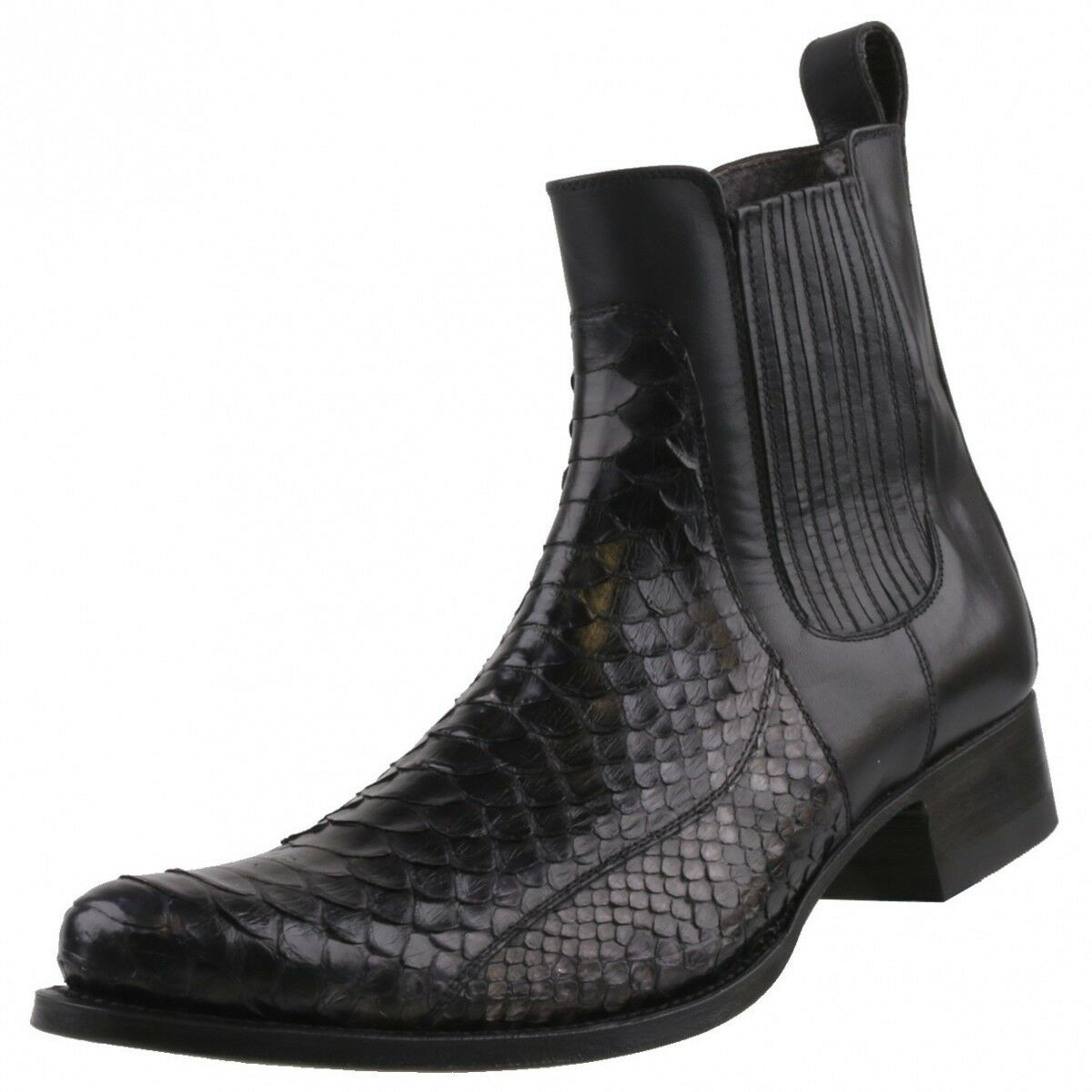 NEUF sendra bottes Chaussures Hommes Chaussures 10855 Bottines python Cuir Chaussures Bottes