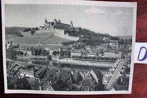 Carte Postale Vue Carte Bavière Würzburg Forteresse Marienberg-afficher Le Titre D'origine