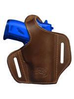 Barsony Brown Leather Pancake Gun Holster Beretta Mini-pocket 22 25 380
