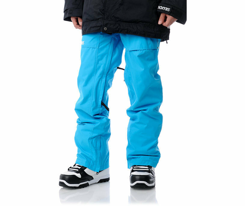 Nomis Mens Snowboard Pant Cargo Waterproof Ski Shell logo bluee XL