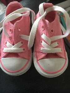 Image is loading baby-girl-pink-glitter-converse b3c69ee116cb
