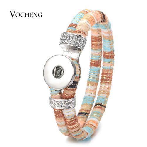 10PCS//Lot Ginger Snap Bijoux Cuir Double Bracelet Pour 18 mm NN-651*10
