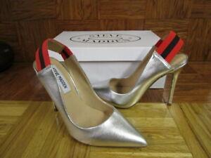 7e6e5a7f2 STEVE MADDEN Women's Darby Slingback Silver Multi Heels Size 5.5 M ...