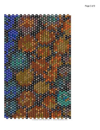 Circles 4  Peyote Cuff Beaded Bracelet Pattern by Karen Zumbrun