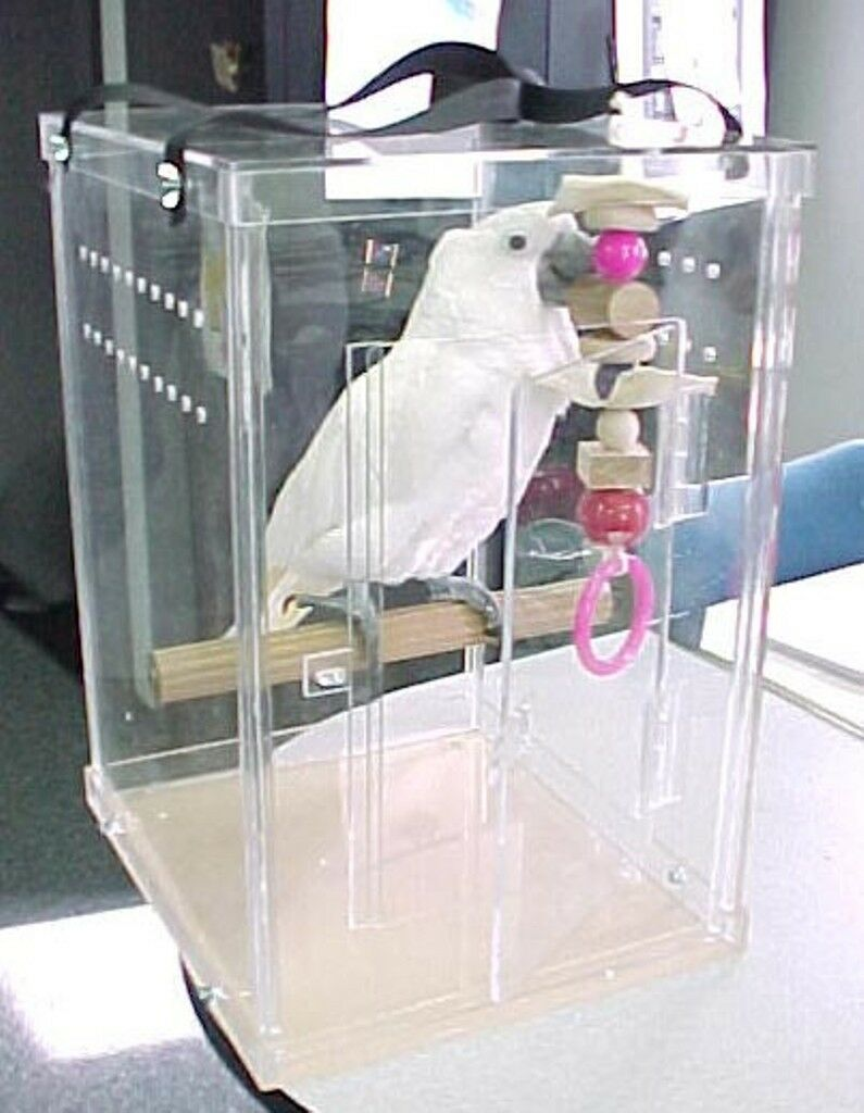 Bird Carrier Amazon Parred Bird Acrylic Carrier bird transporter , kennel