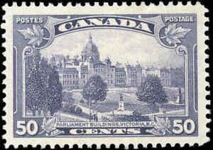 Mint-H-Canada-50c-VF-1935-Scott-226-King-George-V-Pictorial-Stamp