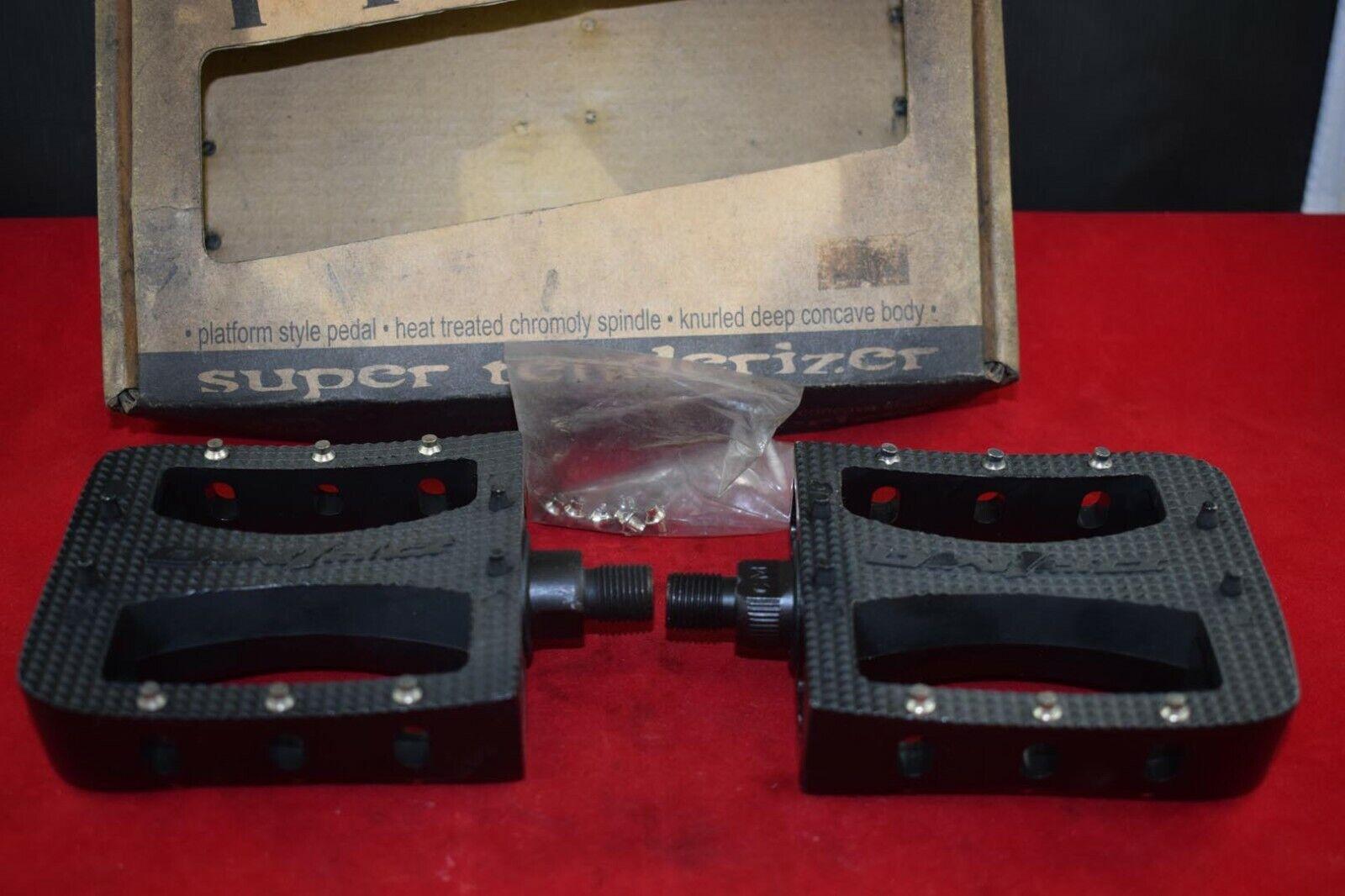 PRIMO Super Tendraiser pedaal set 1 2 Aluminium Middelbare school bmx vintage zwart NOS