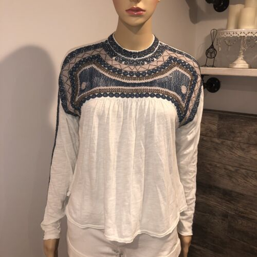 Free people boho long sleeve tops size XSmall
