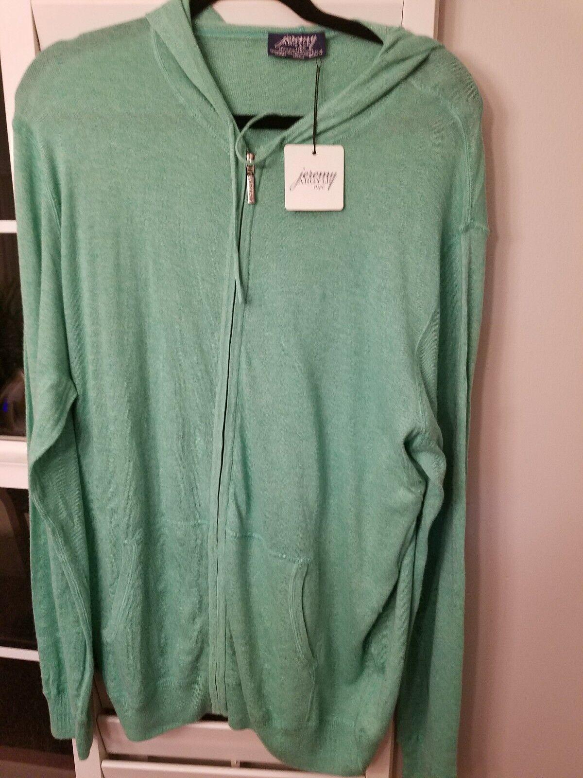 NWT Size XL Jeremy Argyle lightweight hoodie green JA12-green