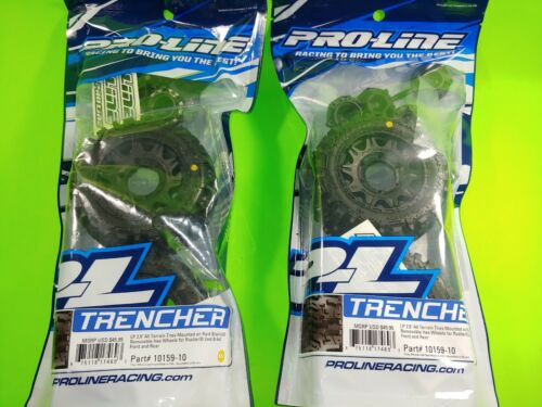 "4 Pro-Line 10159-10 Trencher LP 2.8/"" Mounted Tires TRAXXAS  Ruslter Stampede 4X4"