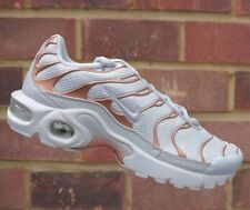 Juniors Womens Boys Girls Nike Air Max Plus GS Tn White Metallic Bronze UK 5.5