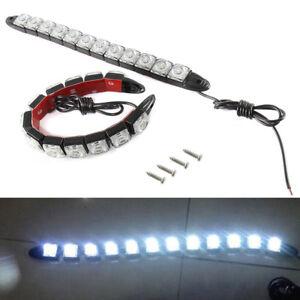 2x-Car-Flexible-12-LED-DRL-Daytime-Running-Light-Driving-Daylight-Fog-Light-Lamp