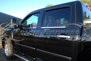 2007-2013-Chevy-Silverado-GMC-Sierra-4Dr-Crew-Cab-Chrome-Window-Sill-Door-Trim