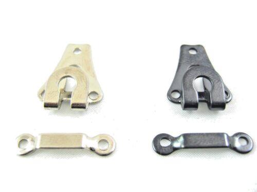 144 X Hose Haken /& Ösen Erhältlich in Oxidiert Schwarz und Vernickelt Silber