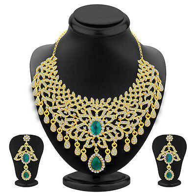 Sukkhi Splendid Gold Plated AD Necklace Set For Women(3126NADS1650)