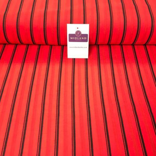 Red despojado Georgette Crepe De Lino Efecto Tela 150cm Ancho MK1095-7 mTEX