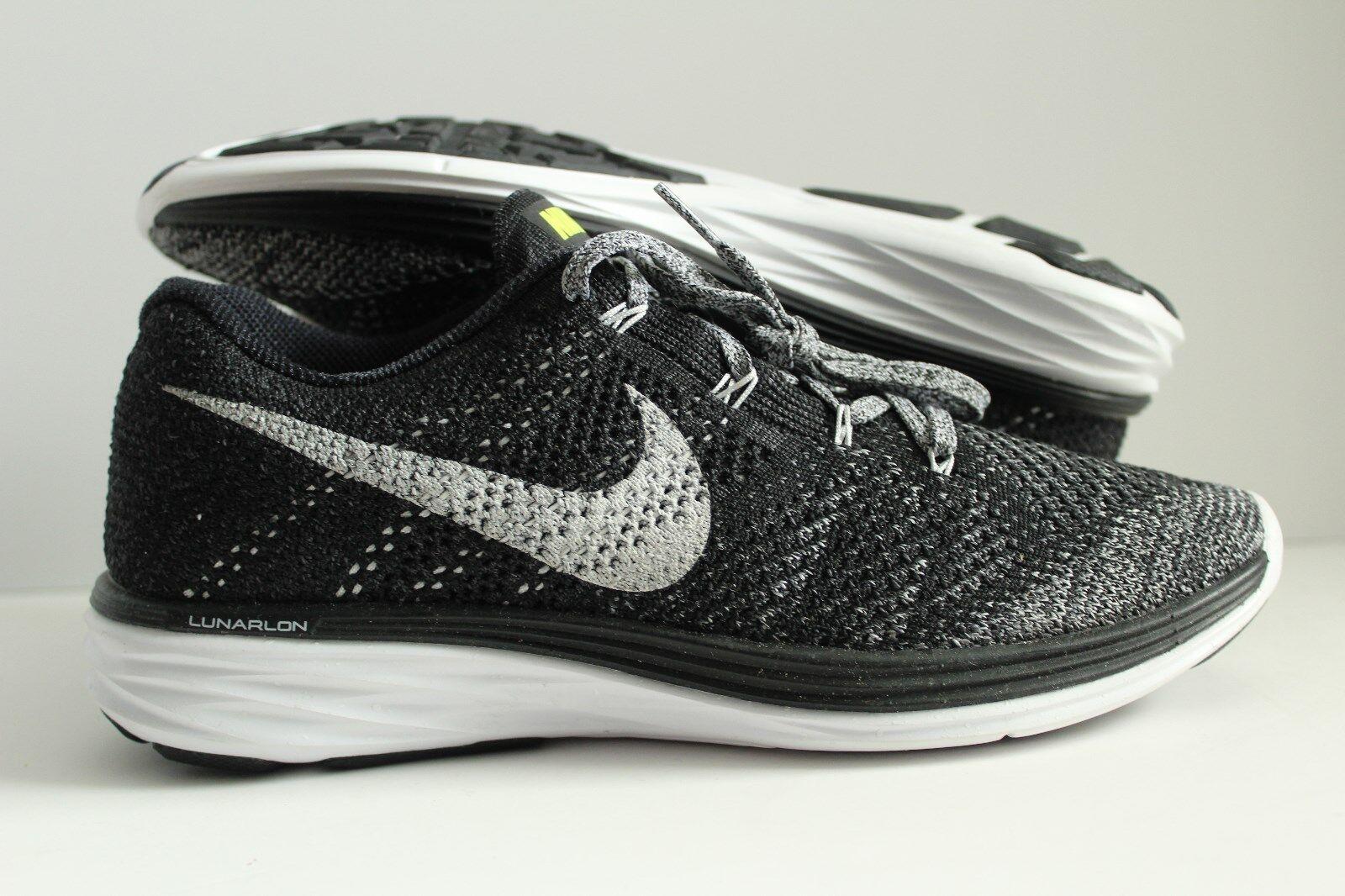 New Nike Men Free ID Flyknit Lunar Lunar Lunar shoes Black White Grey Size 8W 799276-001  ed2930