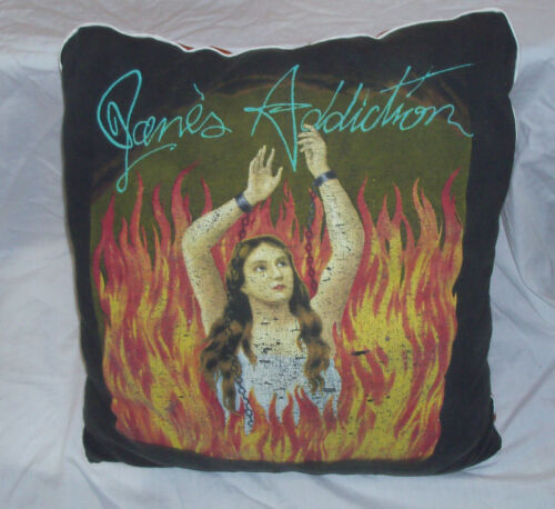 "Vintage 1989 JANES ADDICTION PILLOW ""Ritual de lo"