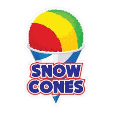 Snow Cones Concession Restaurant Food Truck Die Cut Vinyl Sticker