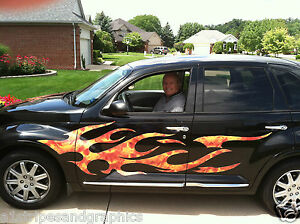 PT Cruiser Chevy HHR SSR Flame Flames FULL COLOR Side Graphics - Graphics for cars and trucksfull color flames graphics car truck decals truck decals