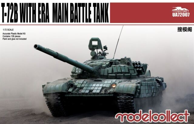 Modelcollect UA72007, T-72B with ERA main battle tank, 1:72