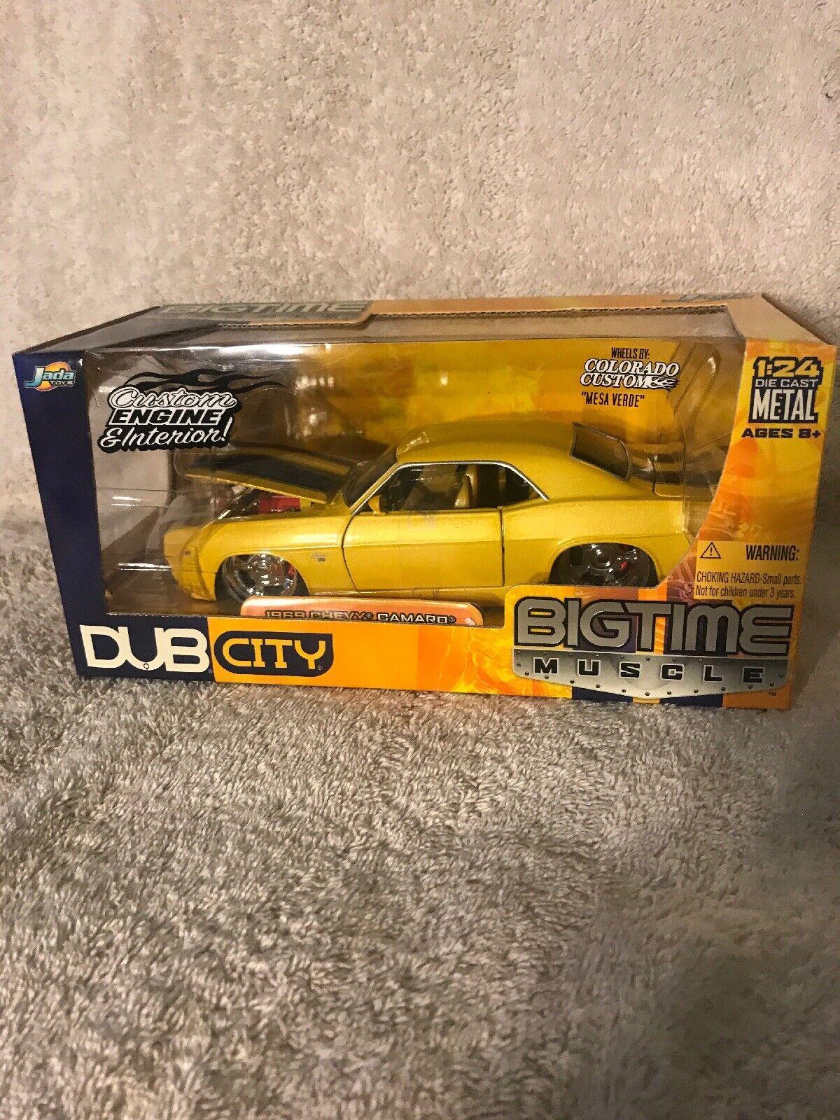 Ahorre hasta un 70% de descuento. Jada 1 24 Bigtime Muscle Amarillo 1969 Chevy Camaro Ss Ss Ss Nuevo En Caja. muy difícil de encontrar   alta calidad y envío rápido
