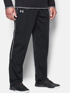 Under Armour UA Men/'s RIVAL Loose Men Knit Warm-Up PANTS 1277106 Black White