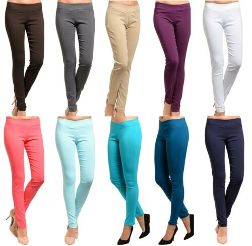 Stretch Rock Star Skinny Leg Long Pencil Pants//Jeggings S//M//L *10 Colors