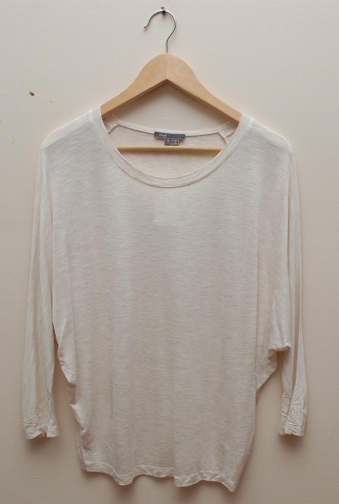 VXS093 NWT VINCE DOLMAN SLEEVE WOMEN TOP SIZE XS in HC