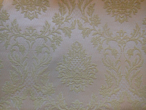 Vintage Retro Celery Green Damask Fabric ~ French pattern ~ upholstery projects