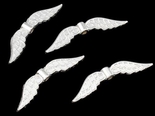 Engelsflügel Metallperlen 10stk Flügel Engel Perlen 30mm Schmuckteile M443