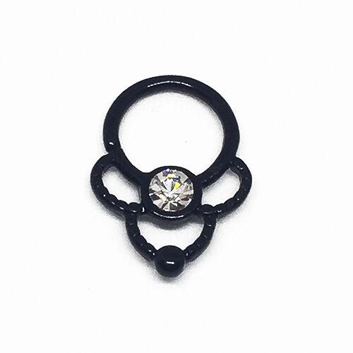Nuevo diseño tabique aro nariz anillos Daith Oreja Cartílago Tragus Barra colgador de torsión
