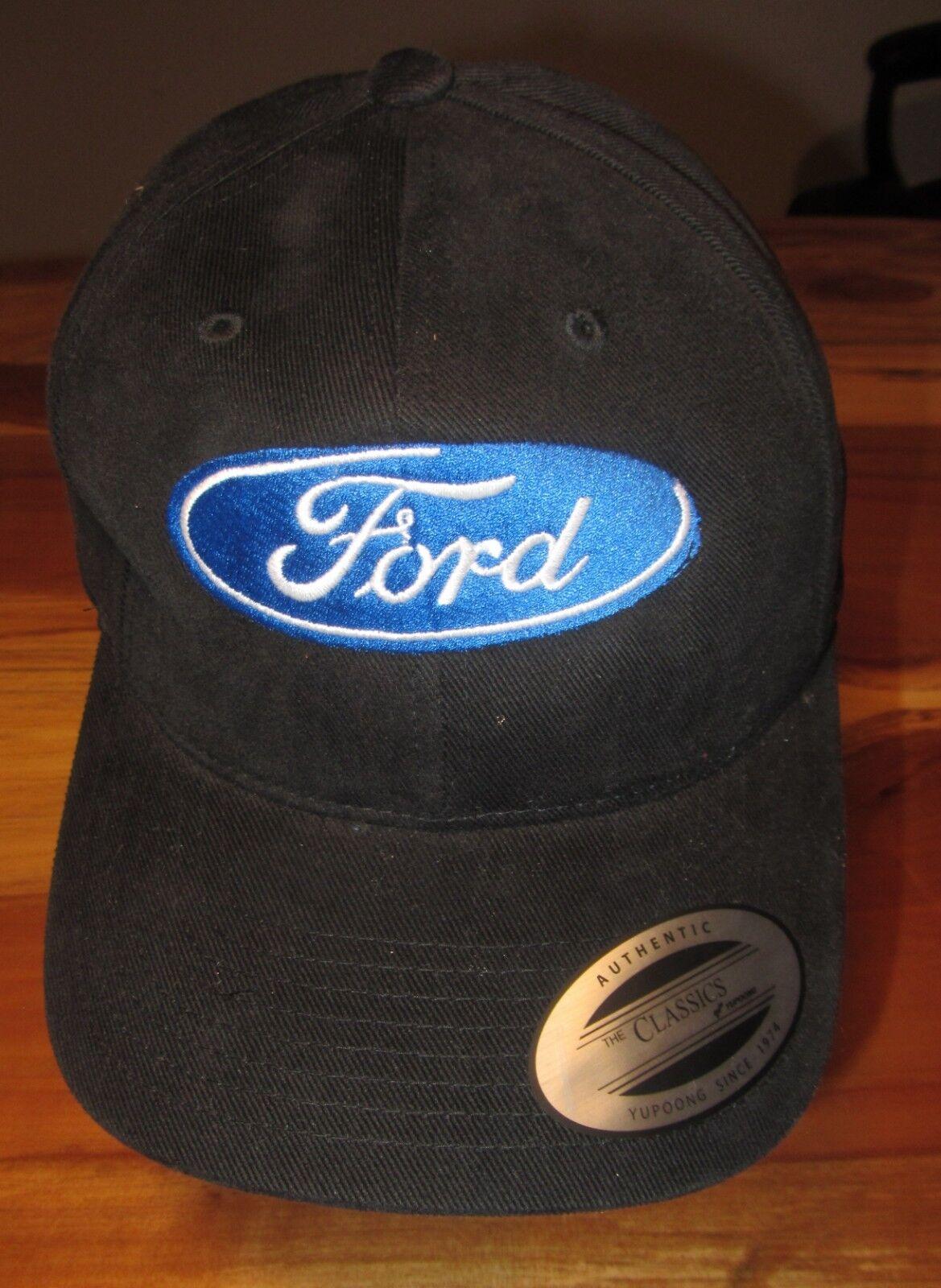 Ford Mens Baseball Cap Size or Hat Black One Size Cap Strapback EUC 701be0
