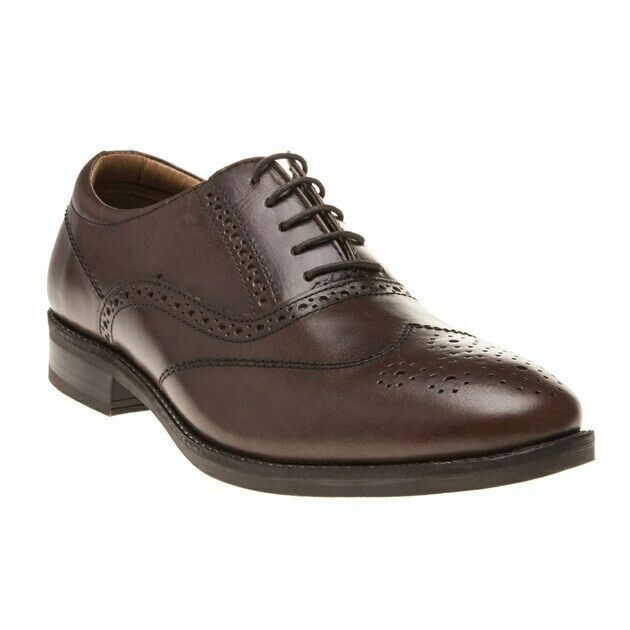 New Mens Red Tape Brown Carlton Leather shoes Brogue Lace Up