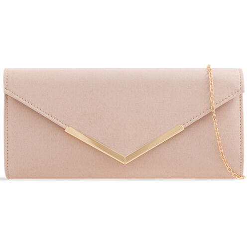 Plain Suede Wedding Ladies Party Prom Evening Clutch Hand Bag Purse HandBag