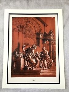 Antique-Print-Rare-Hans-Holbein-The-Holy-Family-Infant-Jesus-Christ-St-Anne