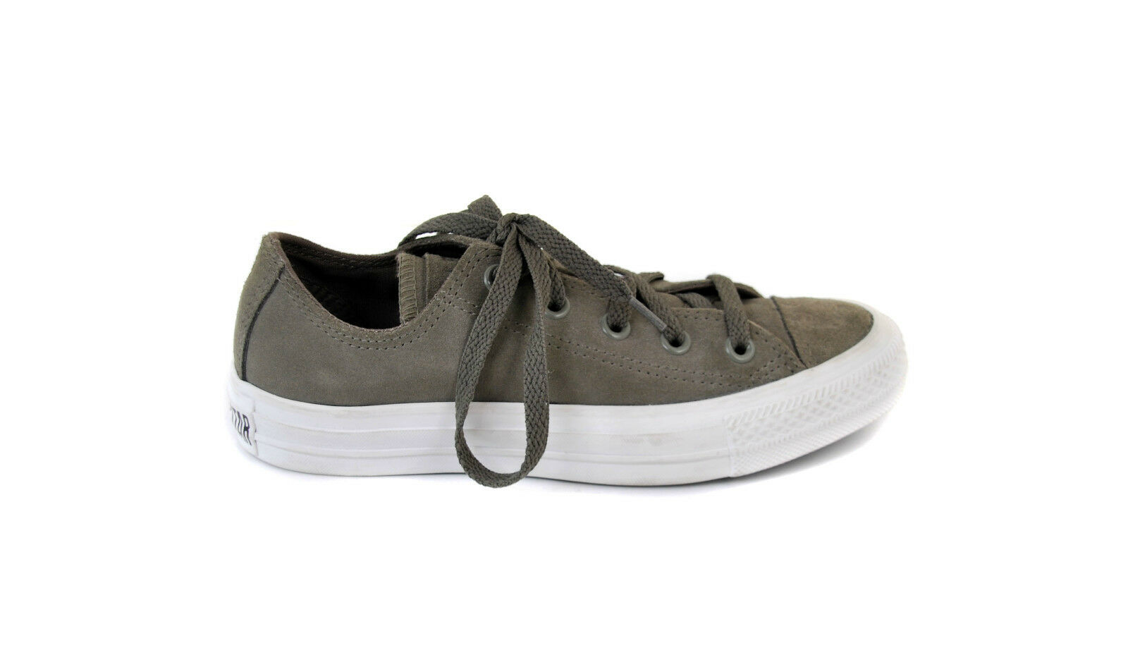 Converse  Women's Authentic Trainers CT LEATHER OX Dusky Olive Size 36 BCF51
